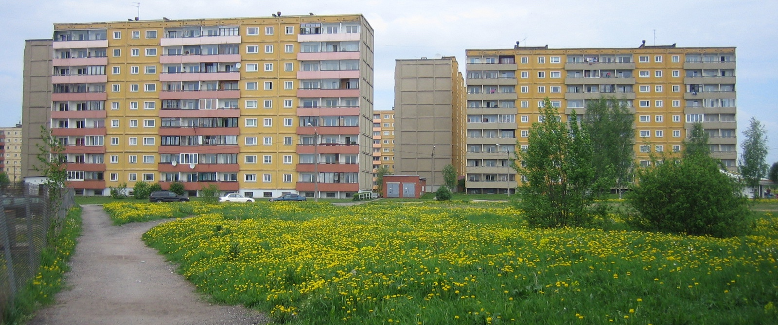An old Soviet bloc in Tartu, Estonia. Typically, this part of town is still mostly populated by ethnic Russians.